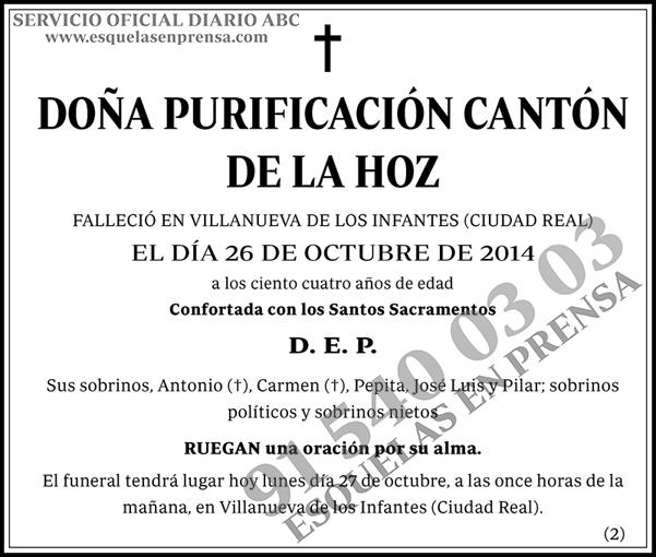 Purificación Cantón de la Hoz